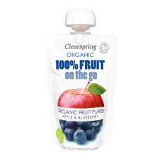 On-the-go Apple & Blueberry Puree - single pouch 120g