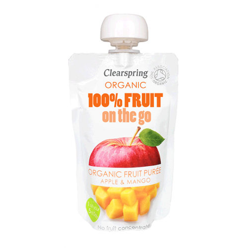 On-the-go Apple & Mango Puree - single pouch 120g