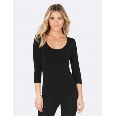 Scoop Neck Top Black L
