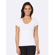 V-Neck T-Shirt W White L