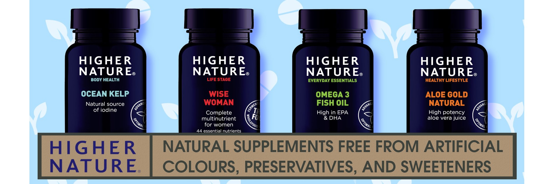 higher Nature - natural and free-from supplements